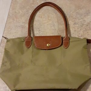 Longchamp small long handle shopping bag